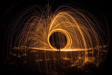 Free Light Painting At Night Royalty Free Stock Photos - 109892868