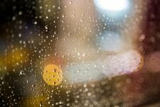 Free Water Drops On Clear Glass During Nightime Stock Photography - 109893332