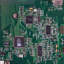 Free Green Circuit Board Stock Image - 109893491