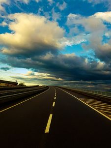 Free Asphalt, Clouds, Guidance Royalty Free Stock Photo - 109894345