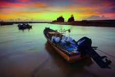 Free Boats, Dawn, Evening Stock Image - 109895791