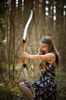 Free Adult, Archery, Beautiful Stock Photography - 109896252