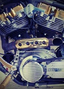 Free Chrome, Engine, Engineering Stock Photography - 109896632