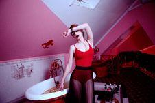 Free Adult, Attic, Bathroom Royalty Free Stock Photos - 109896718