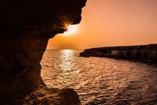 Free Caves, Cyprus, Dawn Stock Photography - 109896862