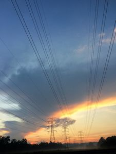 Free Cable, Clouds, Current Stock Images - 109897494
