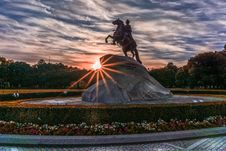 Free Bronze, Horseman, Dawn Stock Photos - 109897813