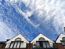 Free Apartments, Balcony, Clouds Stock Photos - 109897823