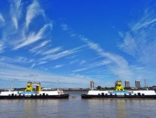 Free Boats, Buildings, Clouds Royalty Free Stock Image - 109898106