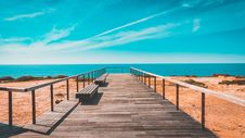 Free Beach, Bench, Boardwalk Royalty Free Stock Photography - 109899587