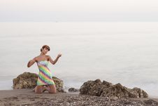 Free Adult, Beach, Eye Stock Photos - 109899743