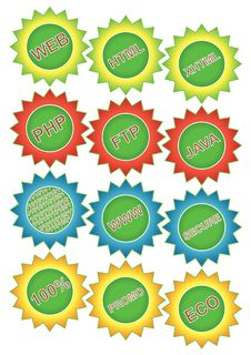 Free Vector Badges Stock Photography - 10991152