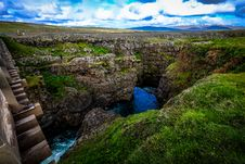 Free Cascade, Cliff, Clouds Royalty Free Stock Images - 109900129