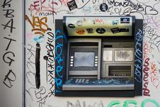 Free Atm, Dirty, Machine Stock Photography - 109901272