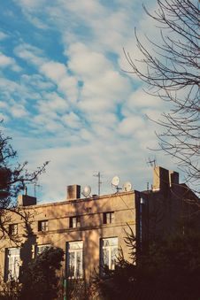 Free Tenement House & Blue Sky Stock Photo - 109902570