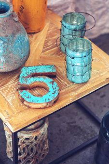 Free Home Decor / Wooden Number 5 Stock Photo - 109903530