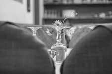 Free Upside Down Wine Glass Behind The Flower Grayscale Photo Royalty Free Stock Image - 109903976