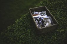 Free Photos In The Wooden Box Stock Image - 109904181