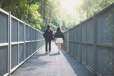 Free Adults, Bridge, Countryside Stock Photography - 109904252