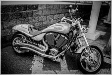 Free Automotive, Bike, Black-and-white Stock Photo - 109904320