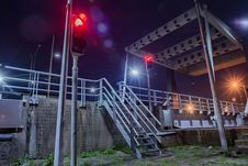 Free Gray Metal Stairs Near Road And Traffic Light Royalty Free Stock Photos - 109904388