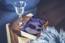 Free Wine Glass & Book Stock Photos - 109904413