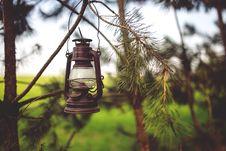 Free Kerosene Lamp In The Woods Stock Photos - 109904443
