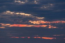 Free Sunset View Covered By Cloudy Sky Royalty Free Stock Photography - 109904937