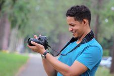 Free Camera, Daylight, Guy Royalty Free Stock Image - 109905546
