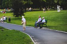 Free Seniors In The Park Stock Image - 109905671
