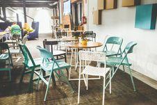 Free Vintage Interior Of Restaurant Royalty Free Stock Photo - 109906005