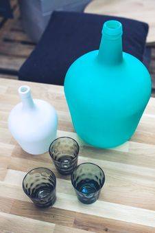 Free Bottle & Glasses Stock Images - 109906744