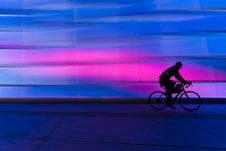 Free Silhouette Of Person Riding On Commuter Bike Stock Images - 109906804