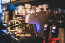 Free Professional Coffee Machine Restaurant Royalty Free Stock Photography - 109906907