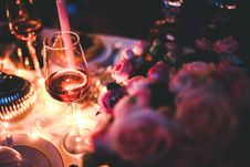 Free Glass Of Rose Wine Stock Photos - 109906963
