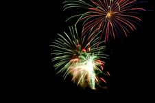 Free Fire Works During Night Time Royalty Free Stock Image - 109907066