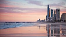 Free Tall City Buildings Near Beach Shore During Sunset Royalty Free Stock Photos - 109907308