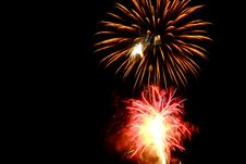 Free Red And Brown Fireworks Display Photo Royalty Free Stock Photo - 109907415