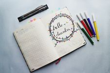Free Writings On A Planner Royalty Free Stock Photography - 109907487