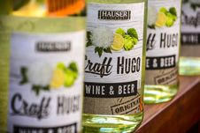 Free Hauser Craft Hugo Wine And Beer Bottles Royalty Free Stock Photography - 109907547