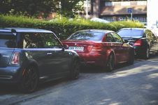 Free Cars Parked Along Way Royalty Free Stock Images - 109907919