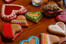 Free Heart Shaped Cookies Stock Photo - 109908210