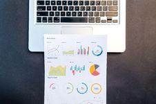Free Paper On Gray Laptop Stock Image - 109908271