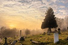 Free Cemetery Under The Cloudy Sky Royalty Free Stock Image - 109908826