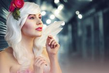 Free Tilt Lens Photography Of Woman With Flower Headband Stock Image - 109908941
