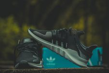 Free Pair Of Black-and-gray Adidas Low Top Sneakers With Box Stock Photography - 109909292