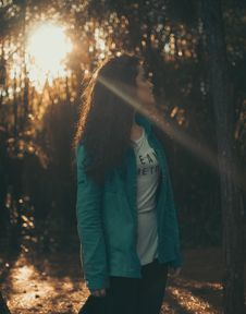 Free Woman Looking At The Trees Royalty Free Stock Photo - 109909355