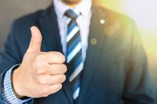 Free Close-up Photo Of Man Wearing Black Suit Jacket Doing Thumbs Up Gesture Royalty Free Stock Photos - 109909438