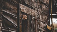 Free Close Up Photo Of Gray Wooden Door Stock Image - 109909561