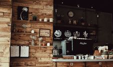Free Assorted Decors With Brown Rack Inside Store Stock Photography - 109909632